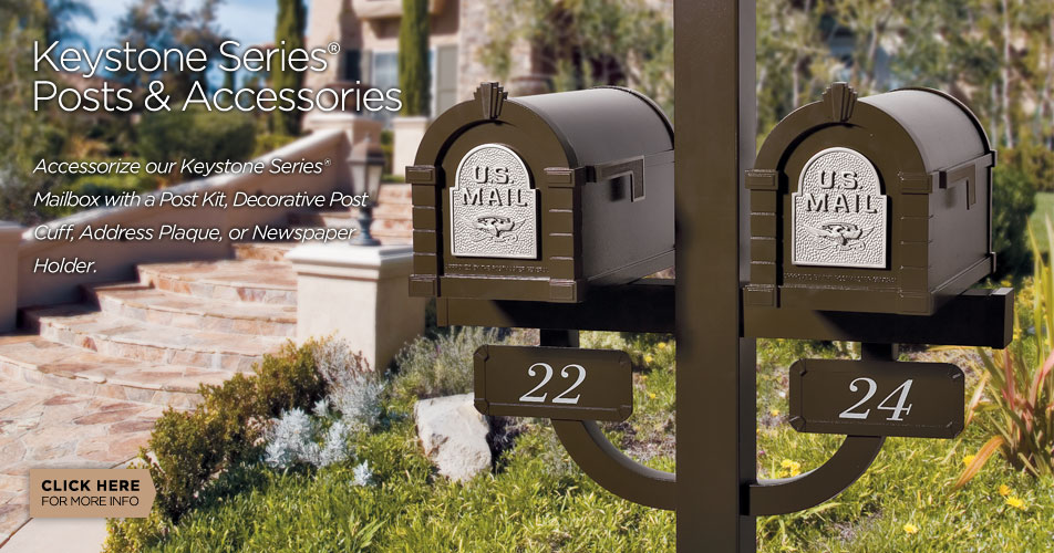 Gaines Manufacturing Keystone Series mailboxes, posts and accessories