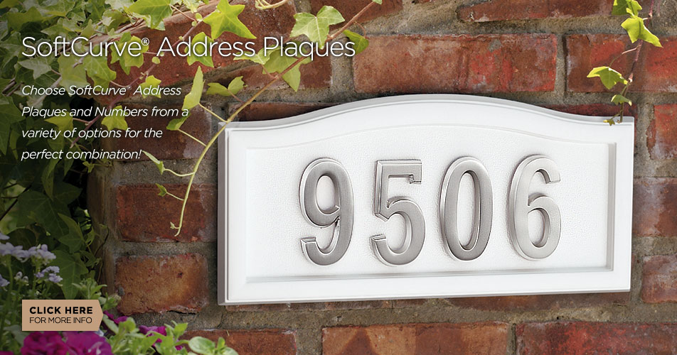 Gaines Manufacturing SoftCurve address plaques