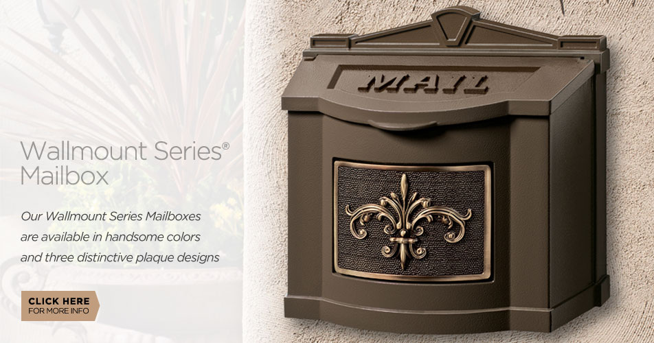 Gaines Manufacturing Wallmount Series Mailboxes