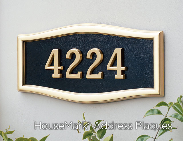 Address Plaques About Housemark Small Oval Large