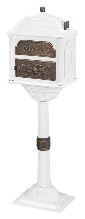 Gaines Classic Mailbox CL-WHI-AB