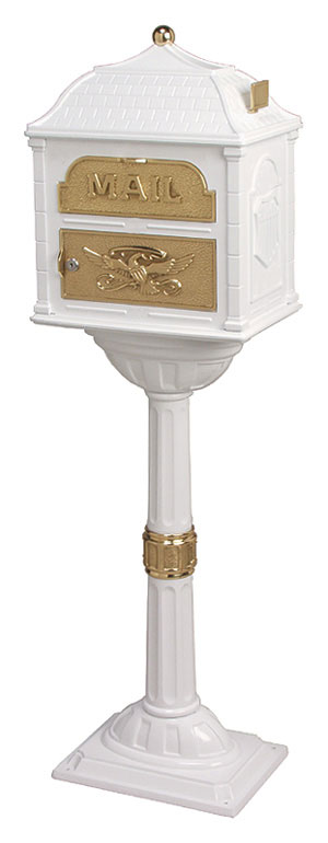 Gaines Classic Mailbox CL-WHI-PB