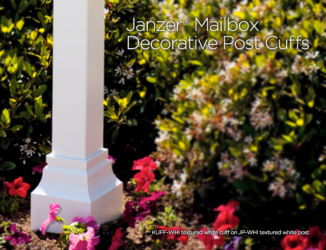 Janzer Mailbox Decorative Post Cuff