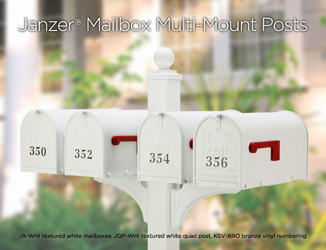 Janzer Mailbox Multi-Mount Posts
