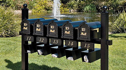 keystone triple mount - Mailbox Posts